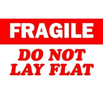 """3"""" x 5"""" Fragile Do Not Lay Flat Labels (500 per Roll)"""