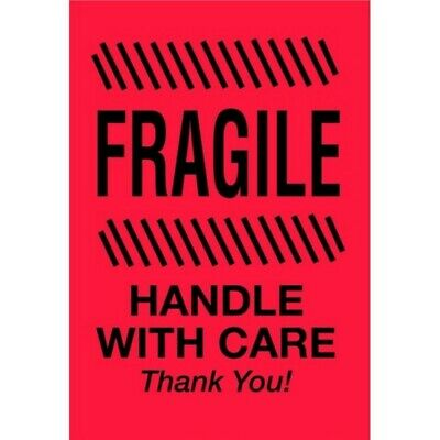 """2"""" x 3"""" Fragile Handle With Care Thank You Labels (500 per Roll)"""