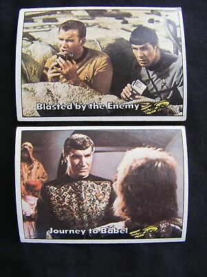 STAR TREK 1976 TOPPS CHEWING GUM TRADING CARDS #'s 61 & 64 ~ Genuine, Original