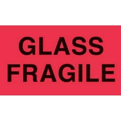 """3"""" x 5"""" Glass Fragile Labels (500 per Roll)"""