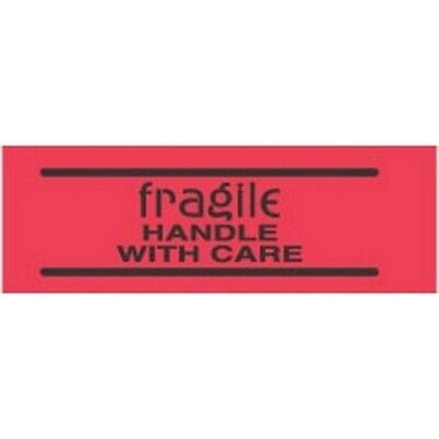 """2"""" x 3"""" Fragile Handle with Care Labels (500 per Roll)"""