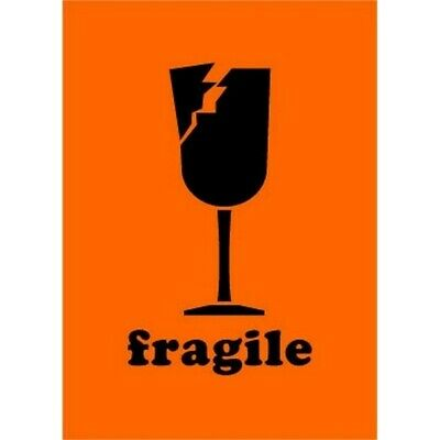 """2"""" x 3"""" Fragile Glass Labels (500 per Roll)"""