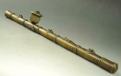 Chinese folk old antique collection pure copper Smoking pipe e01