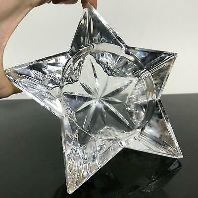 WATERFORD Crystal Clear Cut Star Candle Holder Votive Art Glass Statue Sculpture