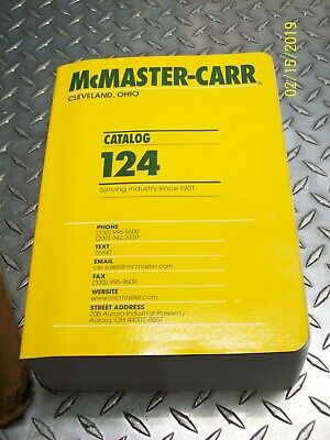 NEW McMASTER-CARR CATALOG 124 CLEVELAND OHIO