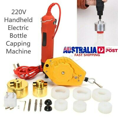220V Handheld Electric Capping Machine Handle Manual Bottle Cap Sealer Sealing