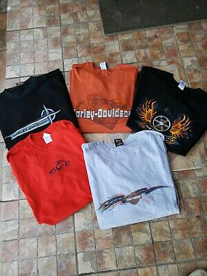 Lot Of 5 Vintage Harley Davidson Shirts 3xl XXL double sided