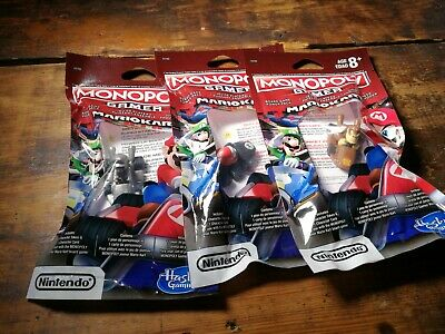 3 Monopoly Gamer Mario Kart Power Pack lot NEW SEALED Mario DK Shy