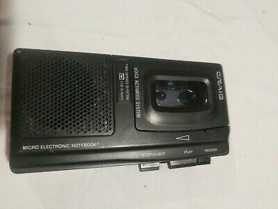 Craig Micro Electronic Notebook Voice Activated Micro Cassette Recorder FP510