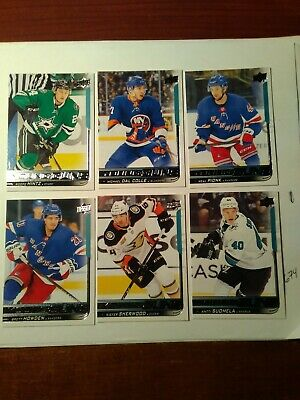 2018-19 Upper Deck Series 1 Young Guns LOT of 6 Cards