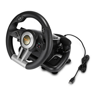 PXN V3II Racing Game Steering Wheel+Brake Pedal For PS3 PS4/Xbox One Black Hot