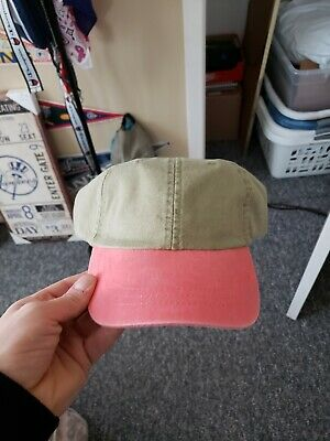 3f32294a New Era 9TWENTY Adjustable Strapback Hat Dad Cap - Blank -two tone khaki  pink