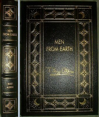 MEN FROM EARTH by Buzz Aldrin & Malcom McConnell Easton Press Leather 1997
