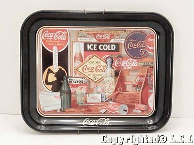 "Vintage Coca Cola Metal Serving Tray ""Through the Years"" Sandra Porter 1985"