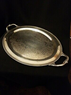 Castleton International silver company silver plate tray