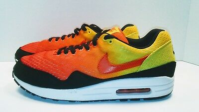 new product d74c3 984f3 Nike Air Max 1 EM Sunset Pack Black Team Orange Tour Yellow Size 8.5 554718-
