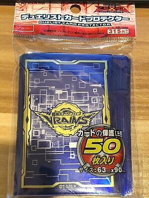 50 ct Translucent-Blue Card Sleeves Plastic Deck Protector Yugioh Vrains