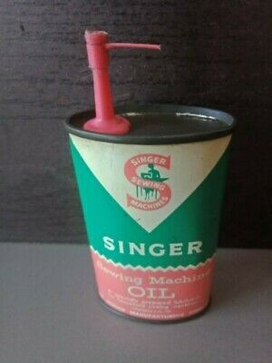 OLD SINGER SEWING MACHINE OIL CAN - 3 fl oz