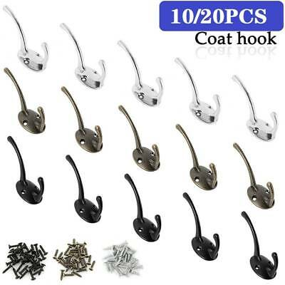 Vintage 10 Hooks Coat Hat Clothes Robe Holder Door Hook Rack Wall Hanger
