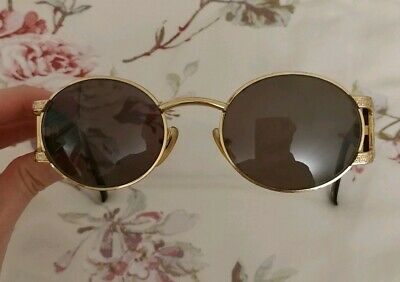 59a9a5f07b8 AUTHENTIC GIANNI VERSACE S60 Vintage Round Gold Brown Sunglasses ...