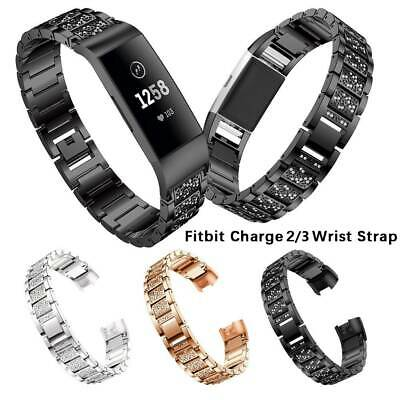 Fr Fitbit Charge 2 /3 Band Metal Stainless Steel Milanese Loop Wristband Strap U