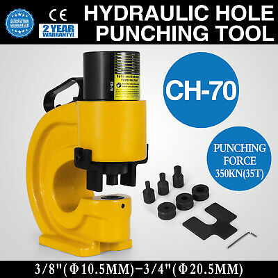 CH-70 Hydraulic Hole Punching Tool Puncher 35T High Carbon 10.5-20.5mm CFP-800-1