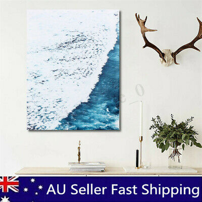 Framed Modern Sea Life Canvas Print Painting Ocean World Wall Poster Home Decor