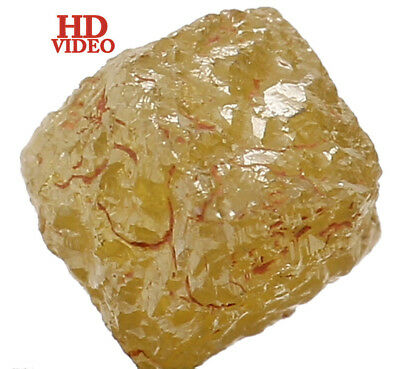 Natural Loose Diamond Rough I3 Clarity Yellow Color 5.00MM 1.36 Ct KR707