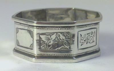 Victorian hallmarked Sterling Silver Napkin Ring (not inscribed) – Chester 1893
