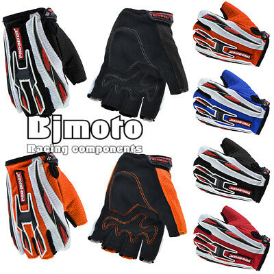 Motorcycle Motorbike Sports Racing Gloves MTB Cycle Half Finger Breathable Glove