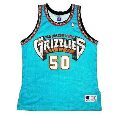 4bd078d00 Vtg Rare NBA Vancouver Grizzlies  50 Reeves Authentic Champion Jersey. Size  48.
