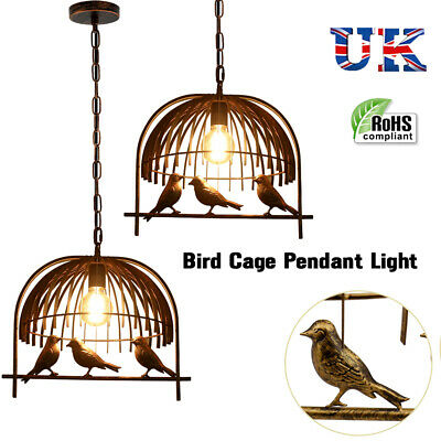 New Modern Vintage Industrial Retro Loft Bird Cage Ceiling Lamp Without Bulb