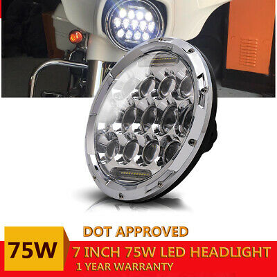 7Inch 75W LED Car Headlight 30000LM 6000K LED Offroad Lamp DRL for Jeep Wrangler