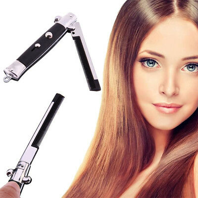 Stainless Steel Foldable Comb Hair Trimmer Brush Accessories Pocket Comb