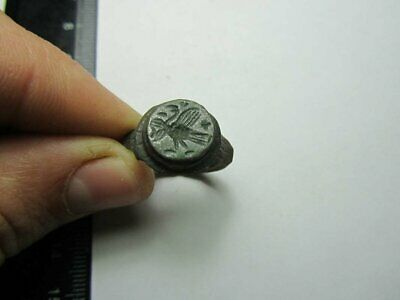 Medieval ring  Bird.  Metal detector finds 100% original