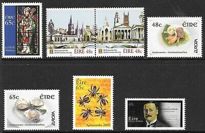 Ireland 2005  Commems Selection (listed). MNH