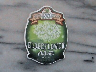 Wentworth Elderflower Ale real ale beer pump clip sign Rotherham South Yorkshire