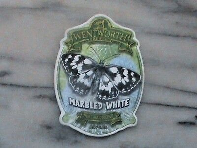 Wentworth Marbled White real ale beer pump clip sign Butterfly theme