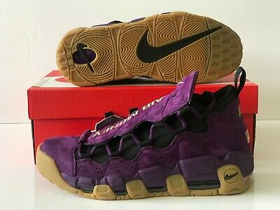 9be6231495 Nike Air More Money Purple Leopard NYC Metallic Gold Gum Size 8.5  (AR5401-500