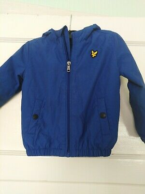 Toddler Lyle and Scott blue hooded jacket age 24 months