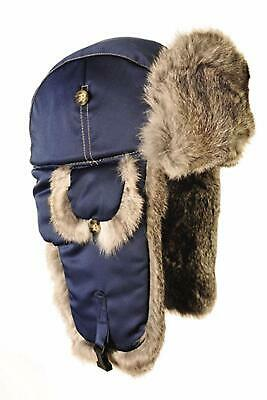 e25235d16 MAD BOMBER HUNTING Trapper Hat Adult Size XL White Faux Fur Leopard ...