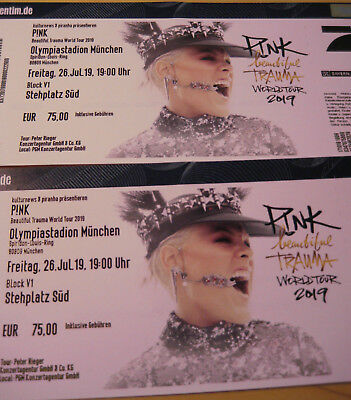 PINK 2 Block-Stehplätze Fr 26. Juli 2019 München Beautiful Trauma World Tour