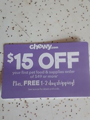 $15 Off Coupon At Chewy.com
