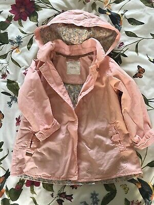 Next Girls Jacket Coat Spring Summer Age 2-3 Pink Apricot
