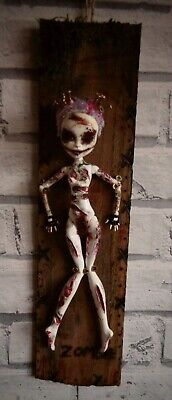 """OOAK Post Apocalyptic Monster high Mad Max """"ZOMBIE"""" Unique Alternative Art"""