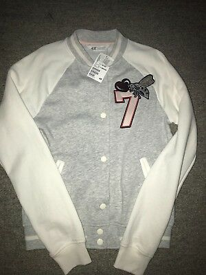 girls H&M sweatshirt jacket 10-12 BNWT