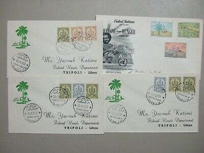 Four Libya fdc:3X 1959 differen nominations,1X 1960