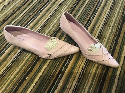 Size 5 Ladies Rose Pink Evening Wedding Small Heel Shoes