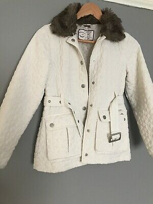 Girls White Jacket Light Coat Size 9 - 10 Years M&S
