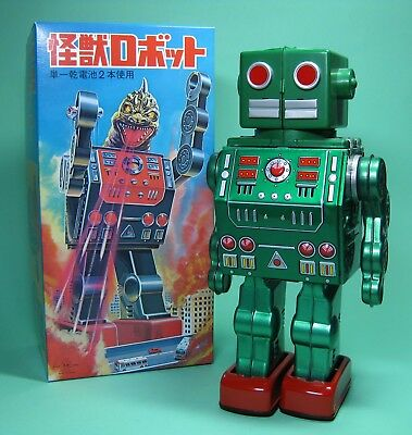 Original Dino Robot Green Roboter Rm Metalhouse Re Edition Made In Japan *****